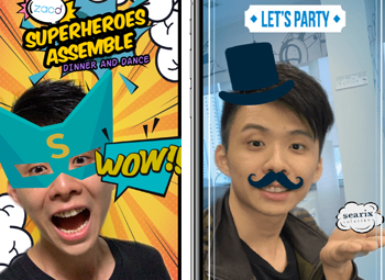 Facebook Augmented Reality (AR) Camera with Customized Stickers for Corporate Events