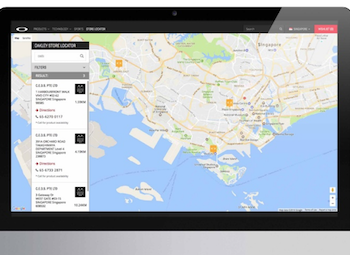 Searix Solutions enhanced the Oakley Store Locator to serve markets across South-East Asia
