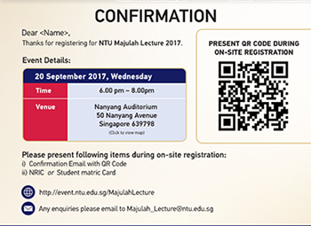 Customized QR Code Event Registration System / RSVP Website