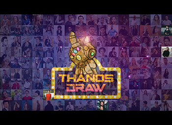 Thanos Lucky Draw - Snap Activated Disintegration Mosaic Photo Wall