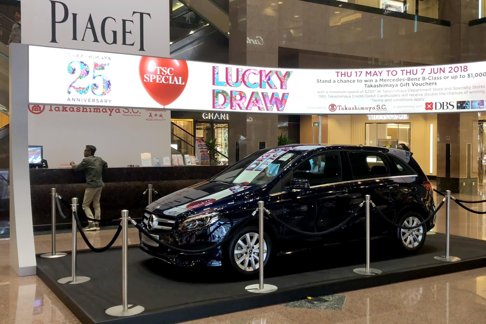 Retail lucky draw prize Mercedes