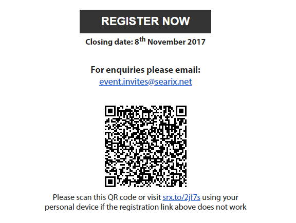 Sample QR Invitation Email With QR Code and Short Link