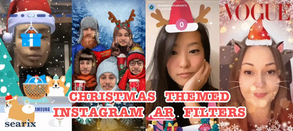 Christmas Themed Instagram AR Filters Blog Post